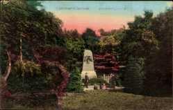 Postcard Hannover Ellenriede, Ansicht vom Burckhardt Denkmal