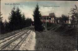 Postcard Durlach Karlsruhe in Baden Württemberg, Turmberg mit Bergbahn