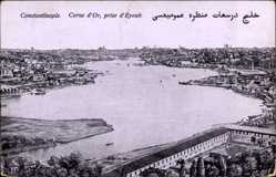 Postcard Konstantinopel Istanbul Türkei, Corne d'Or, prise d'Eyoub