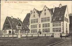 Postcard Merzig an der Saar im Kreis Merzig Wadern, Ansicht vom königlichen Seminar