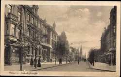 Postcard Herne im Ruhrgebiet Nordrhein Westfalen, Bahnhofstraße, Hotel Schlenkhof