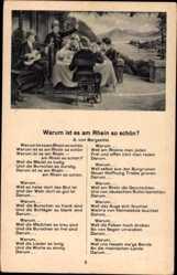 Lied Ak A. v Bergsattel, Warum ist es am Rhein so schön