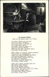 Lied Ak Im kühlen Keller, Carl Müchler, L. Fischer, Weinkeller