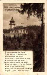 Gedicht Ak Mariánské Lázně Marienbad Reg. Karlsbad, Cafe Restaurant Forstwarte