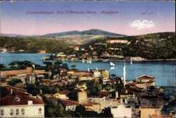 Postcard Konstantinopel Istanbul Türkei, Vue d'Arnaout Keuy, Bosporus, Häuser