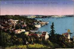 Postcard Konstantinopel Istanbul Türkei, Vue panoramique de Beylerbeg, Bosporus