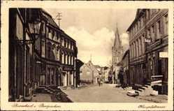 Postcard Burscheid im Bergischen, Blick in die Hauptstraße