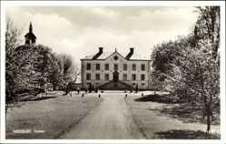 Postcard Hässelby Stockholm Schweden, Slottet, Blick auf das Schloss, Weg