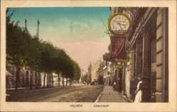 Postcard Hilden Düsseldorf Nordrhein Westfalen, Oberstadt, Straßenpartie, Cafe Hahn