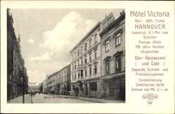 Postcard Hannover in Niedersachsen, Hotel Victoria, Wilh. Funke, Luisenstraße 3
