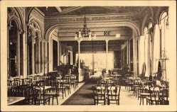 Postcard Hannover, Cafe Viktoria, Inh. A. Petri, Georgstraße 12, Saal, Innenansicht