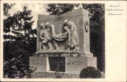 Postcard Aurich in Ostfriesland, Blick auf das Ehrenmal, Parkanlage