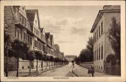 Postcard Opladen Leverkusen in Nordrhein Westfalen, Hederichsfeld, Passanten