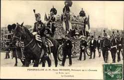 Ak Funérailles de Henri Brisson,Président de la Chambre,19 Avril 1912,Corbillard