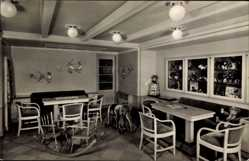 Postcard Doppelschraubendampfer MS Caribia, Kinderzimmer, HAPAG