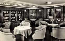 Postcard Doppelschraubendampfer MS Caribia, Damenzimmer, HAPAG