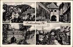 Postcard Tecklenburg Westfalen, Blick auf Legge, Schlossberg, Burgtor, Totalansicht