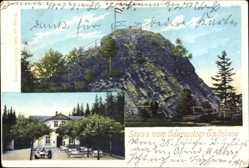 Postcard Oderwitz, Spitzberg, Aussichtsplattform, Gaststätte, Terrasse, Besucher