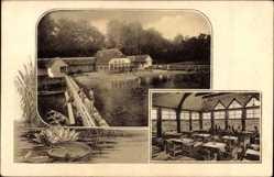 Postcard Altruppin Neuruppin, Blick auf das Seebad, Inh. D. Schubert, Innenansicht