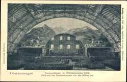 Postcard Oberammergau in Oberbayern, Passionstheater um 1900, Zuschauerraum