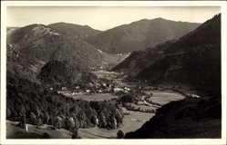 Postcard Utzenfeld Schwarzwald, Das Wiesental, Blick auf die Stadt und Geschwend