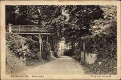 Postcard Aalbeck Limburg Niederlande, Retraitehuis, Weg door het park