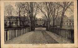 Postcard Wickrath Mönchengladbach im Ruhrgebiet, Blick auf das Schloss, Eingangstor