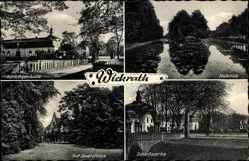 Postcard Wickrath Mönchengladbach im Ruhrgebiet, Schloss, Gut Spiersfelde, Halbinsel