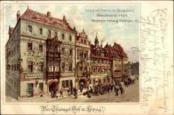 Künstler Litho Schäffer, C., Leipzig in Sachsen, Thüringer Hof, Georg Grimpe