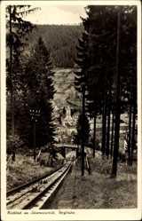Postcard Bad Wildbad im Kreis Calw Baden Württemberg, Schienen der Bergbahn