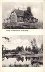 Postcard Eisendorf Schleswig Holstein, Partie am Brahmsee, Backsteinhaus
