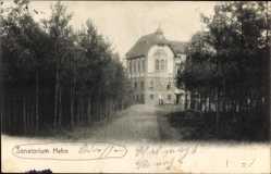 Postcard Hehn Mönchengladbach im Ruhrgebiet, Blick auf das Sanatorium, Weg
