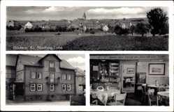 Postcard Heskem Ebsdorfergrund, Gastwirtschaft Ludwig Kirchhain, Innenansicht