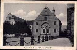 Postcard Osnabrück in Niedersachsen, Blick auf einen Platz und die kleine Kirche