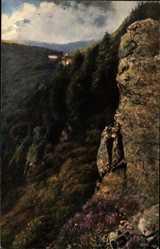Künstler Ak Hoffmann, H., Schlucht, Vogesenserie III Blatt 15