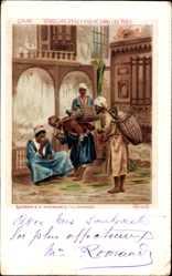 Künstler Ak Cairo Kairo Ägypten, Vendeurs d'eau fraîche, Wasserverkäufer