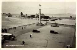 Postcard Helsingborg Schweden, Hamninloppet, Hafen, Parkplatz