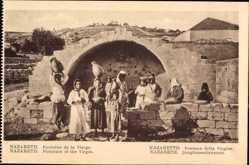 Postcard Nazaret Nazareth Israel, Fontaine de la Vierge, Jungfrauenbrunnen