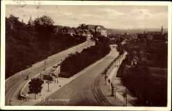 Postcard Naumburg an der Saale, Blick in den Bauernweg, Häuser, Kirche