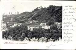 Postcard Bad Kösen Naumburg an der Saale, Blick auf den Ort und die Wilhelmsburg