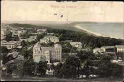 Postcard Ostseebad Göhren auf Rügen, Blick auf den Ort vom Nordpeerd aus