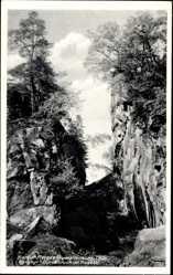 Postcard Herges Auwallenburg Brotterode Trusetal in Thüringen, Porphyr Durchbruch