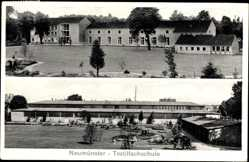 Postcard Neumünster in Schleswig Holstein, Blick auf die Textilfachschule
