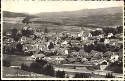 Postcard Brotterode Trusetal in Thüringen, Totalansicht der Ortschaft, Felder