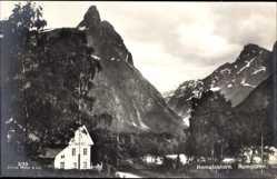 Postcard Romsdalen Norwegen, Romsdalshorn, Teilansicht, Berge, Gipfel