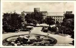 Postcard Lund Schweden, Universitetsplatsen och Akademiska föreningen