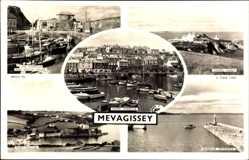 Ak Mevagissey South West England, Chapel Point, Harbour, Port Mellon, Tuck
