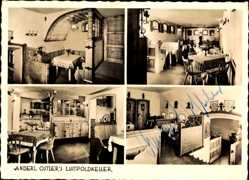 Postcard Grainau Oberbayern, Anderl Ostlers Luitpold Keller, Innenansicht