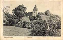 Postcard Horn Bad Meinberg im Kreis Lippe, Blick auf die Dorfkirche, Häuser