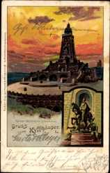 Litho Kyffhäuserland Thüringen, Kaiser Wilhelm Denkmal, Turm, Aufgang